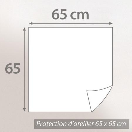 Housse de protection oreiller 65x65 cm Antonin - Molleton absorbant traité anti-acariens