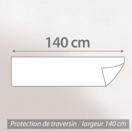 Housse de Protection de traversin imperméable Antony - Blanc - ( 140 cm )