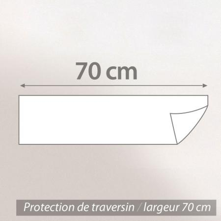 Housse de Protection de traversin imperméable Antony - Blanc - ( 70 cm )
