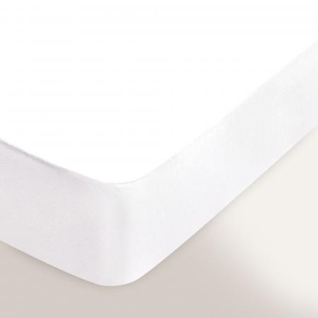 Protège matelas 70x190 cm ANTONIN - Molleton absorbant, traité anti-acariens - Grand bonnet 30cm