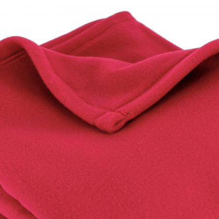 Couverture polaire 180x220 cm 100% Polyester 350 g/m2 TEDDY Rouge Framboise