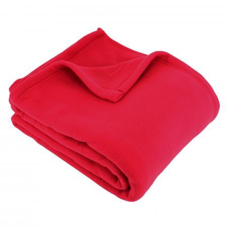 Couverture polaire220x240cm 100% Polyester 350 g/m2 TEDDY Rouge Cerise