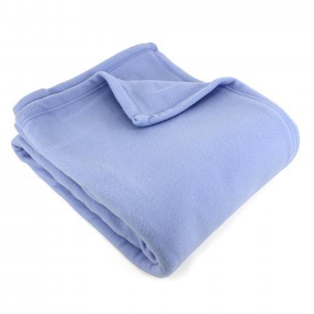 Couverture polaire220x240cm 100% Polyester 350 g/m2 TEDDY  Bleu Lavande