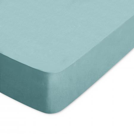 Drap housse uni 110x220 cm 100% coton ALTO vert Eucalyptus