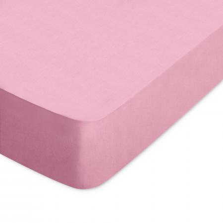 Drap housse 80x200cm uni pur coton ALTO rose