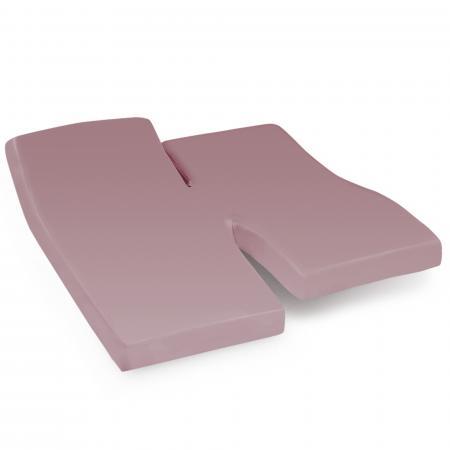 Drap housse relaxation uni 2x70x190 cm 100% coton ALTO Violine - TPR Tête et pied relevable