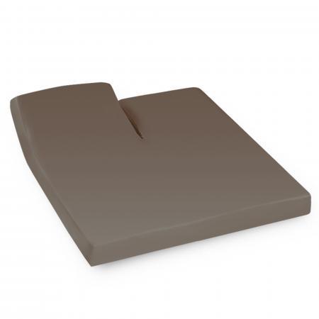 Drap housse relaxation uni 2x70x200 cm 100% coton ALTO Muscade - TR Tête relevable uniquement