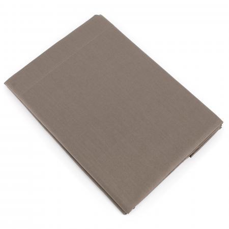 Drap plat uni 180x290 cm 100% coton ALTO Muscade