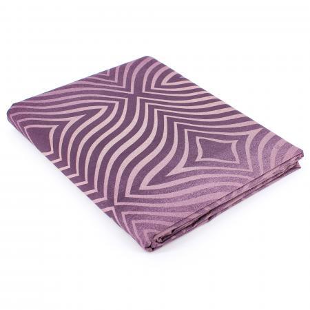 Drap plat 180x290 cm Percale 100% coton JAMES violet Prune