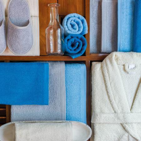 Lot De 12 Gants De Toilette 16x21 Cm Alpha Bleu Turquoise Linnea Linge De Maison Et