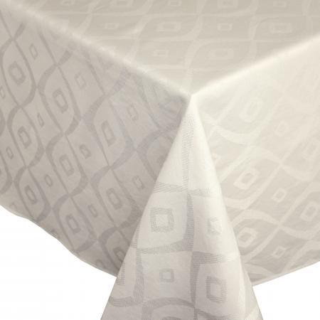 Nappe Carree 150x150 Cm Jacquard 100 Polyester Brunch Ecru