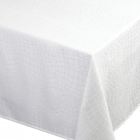 Nappe rectangle 150x300 cm Jacquard 100% polyester LOUNGE blanc