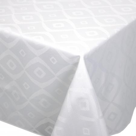 Nappe rectangle 150x350 cm Jacquard 100% polyester BRUNCH blanc