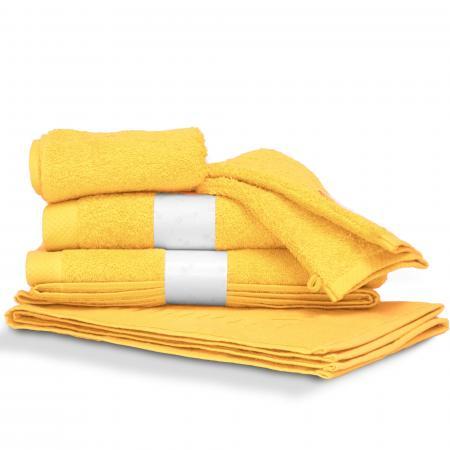 Parure de bain 6 pièces PURE Jaune 550 g/m2
