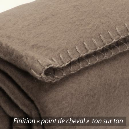 Plaid polaire Uno Marron Taupe 130x170 cm