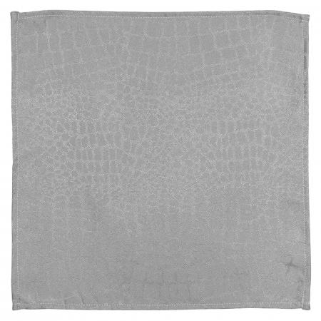 Lot de 3 serviettes de table 45x45 cm Jacquard 100% polyester LOUNGE perle