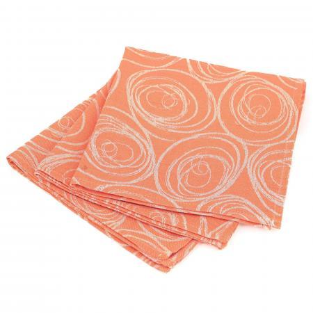 Lot De 3 Serviettes De Table 45x45 Cm Jacquard 100 Coton Spirale