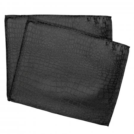 Lot de 2 sets de table 35x45 cm Jacquard 100% polyester LOUNGE noir