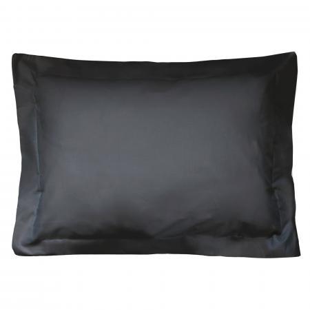 Taie d'oreiller uni 60x40 cm 100% coton ALTO Noir de lune