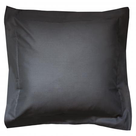 Taie d'oreiller uni 65x65 cm 100% coton ALTO Noir de lune