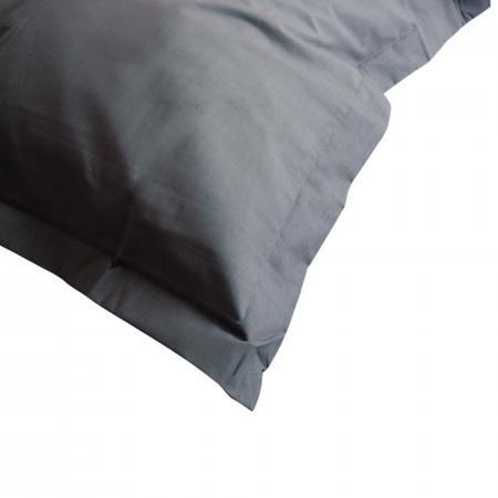 taie d 39 oreiller 80x80cm uni pur coton alto gris manhattan. Black Bedroom Furniture Sets. Home Design Ideas