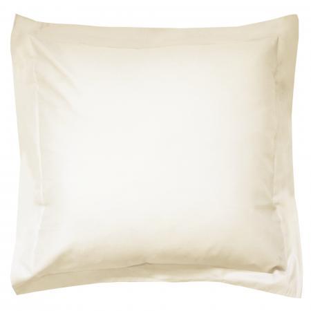 taie d 39 oreiller 80x80cm uni pur coton alto ivoire cr me. Black Bedroom Furniture Sets. Home Design Ideas