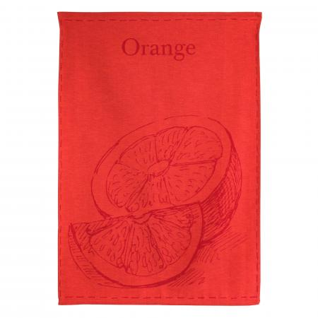 Torchon de cuisine toile 50x70 cm GEORGIA Orange