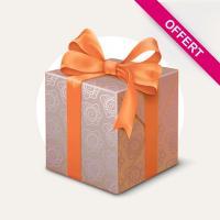 Cadeau Client / Lot de 2 torchons jacquard 60x77 cm 100% coton