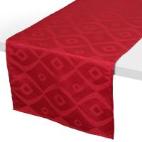 Chemin de table 45x150 cm Jacquard 100% polyester BRUNCH rouge