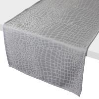 Chemin de table 45x150 cm Jacquard 100% polyester LOUNGE perle