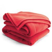 Couverture polaire 220x240cmIsba, Fraise - 100% Polyester 320 g/m2, traité non-feu
