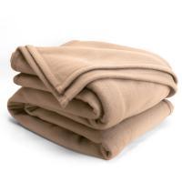Couverture polaire 220x240cmIsba, Sable - 100% Polyester 320 g/m2, traité non-feu
