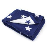 Drap de bain 100x150 cm 100% coton 480 g/m2 STARS Bleu Marine