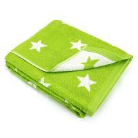 Drap de bain 100x150 cm 100% coton 480 g/m2 STARS Vert
