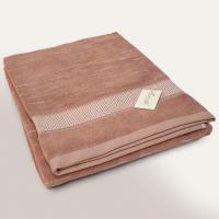 Drap de bain 100x150 cm FICUS Marron 500 g/m2 pur coton bio