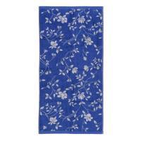 Drap de bain 100x150 cm 100% coton 480 g/m2 FLORAL Bleu