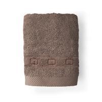 Drap de bain 100x150 cm 100% coton 550 g/m2 PURE CADENA Marron Taupe