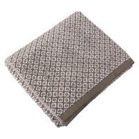 Drap de bain 100x150 cm SHIBORI mosaic Beige 100% coton 500 g/m2