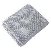 Drap de bain 100x150 cm SHIBORI mosaic Gris 100% coton 500 g/m2