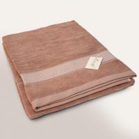 Drap de bain 90x200 cm FICUS Marron 500 g/m2 pur coton bio