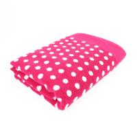 Drap de douche 70x140 cm GRAPHIC DOTS Rose 550 g/m2