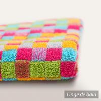 Drap de douche 70x140 cm GRAPHIC SQUARES Multicolore 550 g/m2
