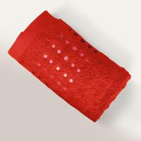 Drap de douche 70x140 cm 100% coton 550 g/m2 PURE POINTS Rouge