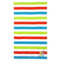 Drap de plage 100x180 cm éponge velours 380 g/m² ANCONA Arc en ciel tongs Multicolore