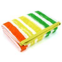 Drap de plage 100x180 cm BOOBY rayures multicolore