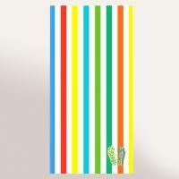Drap de plage 75x150 cm éponge velours 480 g/m2 NUMANA Tongs arc en ciel Multicolore