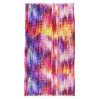 Drap de plage Fouta 100x180 cm 100% coton 270 g/m2 BIBIONE cascade multicolore