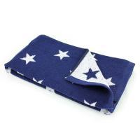 Drap de douche 70x140 cm 100% coton 480 g/m2 STARS Bleu Marine