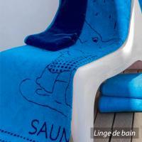 Drap de plage 85x200 cm ELEFANT Bleu 480 g/m2