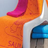 Drap de plage 85x200 cm ELEFANT Orange 480 g/m2